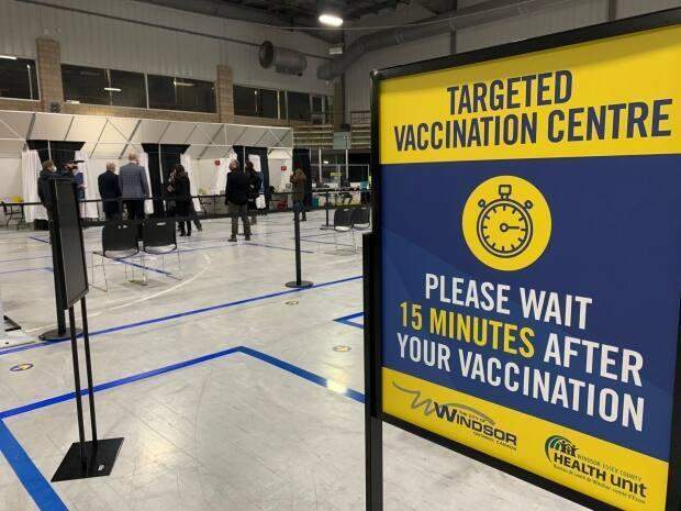 The WFCU Centre is one of four sites where eligible people can get a COVID-19 vaccine in Windsor-Essex.  (Katerina Georgieva/CBC - image credit)