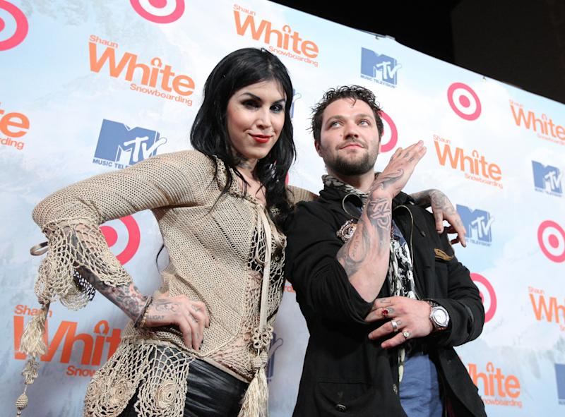 Kat Von D is supporting her friend, Bam Margera, while he attends a 90-day substance abuse program. (Photo: Chris Polk/FilmMagic)