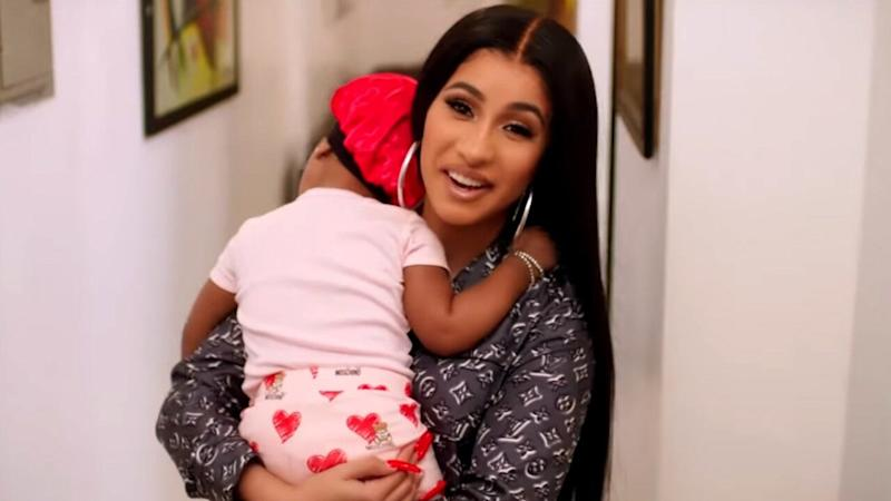 Cardi B Hangs Out With Her Baby Kulture In Vogue's '73 Questions'