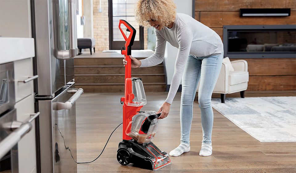 The power of a professional-grade carpet cleaner with the ease of a regular vacuum. Bissell, we love you. (Photo: QVC)