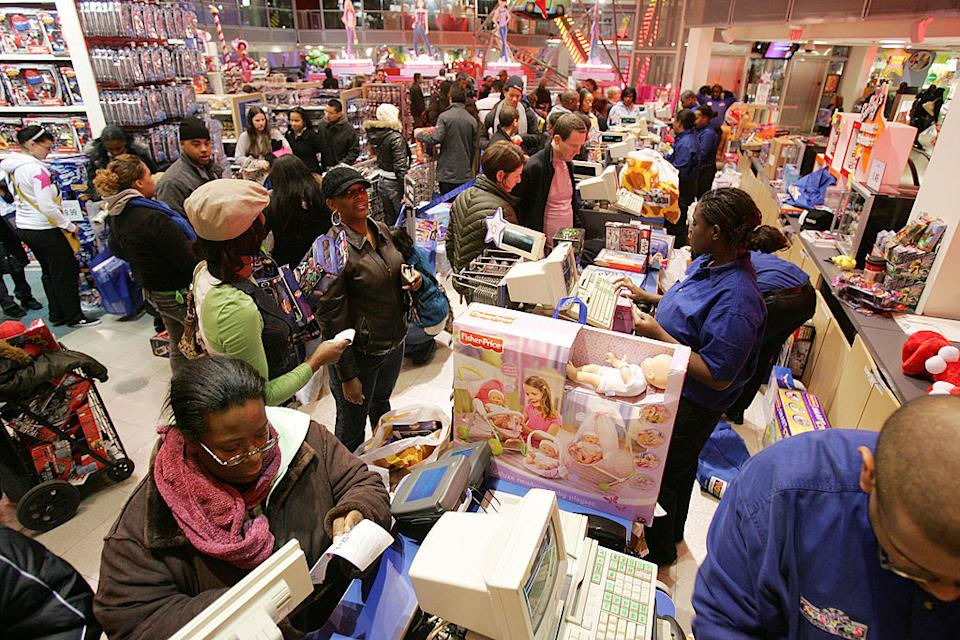 Retailers have tried to rebrand Black Friday to encourage people to visit shopping centres despite the crowds. This year, more people are expected to find the best deals safely online.  . (Photo by Hiroko Masuike/Getty Images)