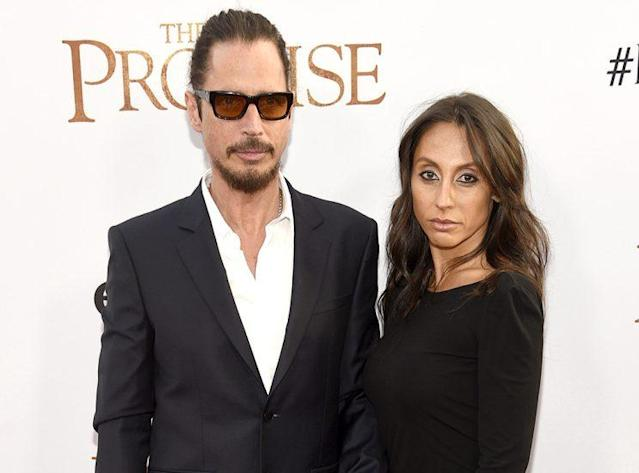 Chris Cornell and his wife, Vicky Karayiannis, at the premiere of <em>The Promise</em> in April. (Photo: Chris Pizzello/Invision/AP)