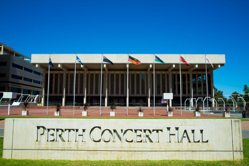 Perth, Australia - March 14, 2019: Perth Concert Hall hosts events & is the main venue of the West Australian Symphony Orchestra