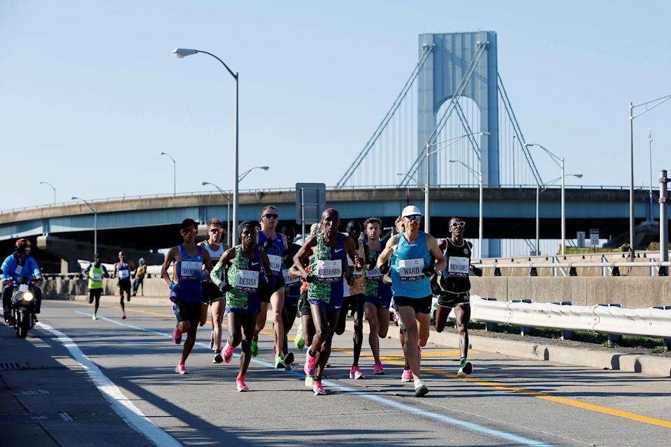 "<p>Look, a marathon lasts a long time, but rules and rules. There's no <a href=""https://help.nyrr.org/tcsnycmarathon/s/article/what-are-nyrrs-rules-of-competition1"" rel=""nofollow noopener"" target=""_blank"" data-ylk=""slk:public urination"" class=""link rapid-noclick-resp"">public urination</a> allowed. </p>"