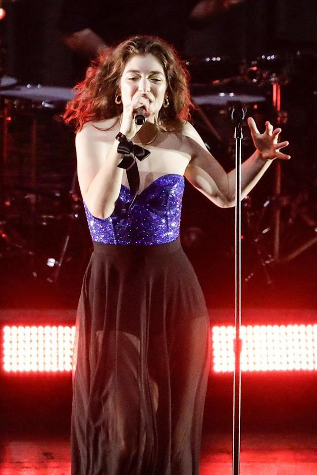 <p>The New Zealand singer's <em>Melodrama</em> was nominated for Album of the Year — a mild surprise because it wasn't a big commercial hit. A bigger surprise is that the album was passed over for a nom for Best Pop Vocal Album. (Photo: Sam Tabone/WireImage) </p>