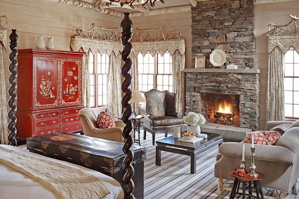 Spread across 300 acres of rolling hills and rambling trails, Vermont's bucolic Twin Farms evokes a sort of country romance—it's a sensation befitting a place purchased by Nobel Prize-winning writer Sinclair Lewis for his wife, journalist Dorothy Thompson, as part of his engagement promise to her. With just 20 accommodations, including cottages and rooms in a farmhouse, the resort is at once intimate and charming, but doesn't skimp on modern perks. The rate is all-inclusive, folding in the hotel's locally sourced, rightfully acclaimed food—which changes so regularly that chef Nathan Rich won't even put out a daily menu—and glasses of vino from the property's 15,000-bottle collection selected by sommelier Keven Ring. (And if you'd prefer to enjoy your meal in your room rather than in one of the dining areas, that can be arranged, too.) But dinner isn't the only meal that should be special; the hotel offers picnics to-go, too, which you can tuck into after a long wander in the woods. The baskets, of course, change seasonally; during the summer, you might have a Vermont cheese and charcuterie with garden tomato salad, while the winter might yield a hearty beef chili.