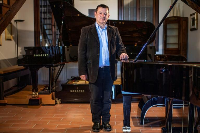 One of his creations is the Doppio Borgato, an imposing assembly of two grand pianos on top of each other, with 37 pedals