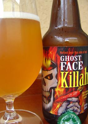 """<div class=""""caption-credit""""> Photo by: Courtesy Daily Beer Review</div><div class=""""caption-title""""></div><b>Twisted Pine Brewery: Ghost Face Killa</b> <br> One of the world's hottest peppers is India's bhut jolokia, commonly called the ghost pepper. Colorado's Twisted Pine has instead incorporated the bhut jolokia into its appropriately named Ghost Face Killa (a riff on Wu-Tang Clan rapper Ghost Face Killah). It's as crisp as it is fiery."""