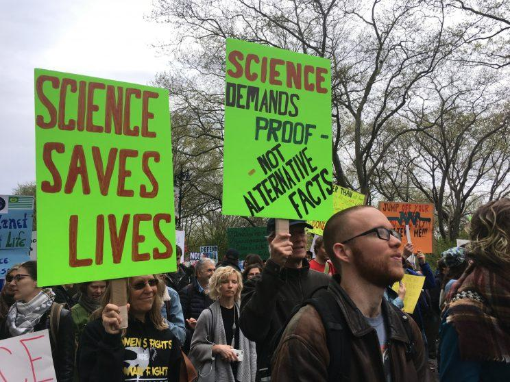 More signs at the Science March in New York.