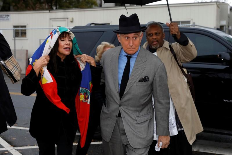 Roger Stone arrives at U.S. District Court in Washington