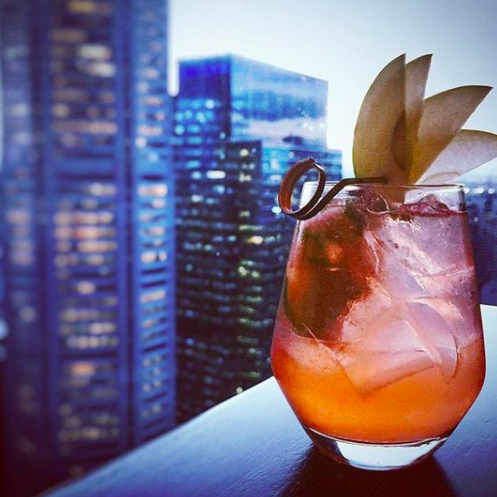 Imagine relaxing with your favourite cocktail while watching the sun go down from the 35th floor of the Sofitel building. Take in the view of one of the world's most incredible cities! #LIFEGOALZ