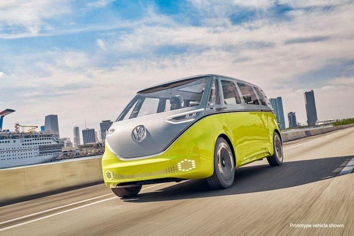 The upcoming Volkswagen I.D. Buzz offers a fully-electric reimagining of the classic VW Bus.