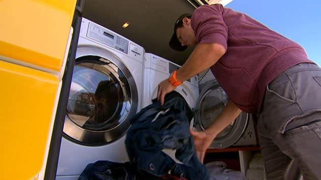 A free mobile laundry service for the homeless has been started in Brisbane