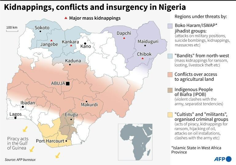 Kidnappings, conflicts and insurgency in Nigeria (AFP/Gal ROMA)