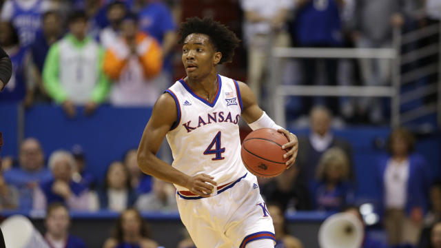 Kansas is in strong position to earn a No. 1 seed thanks in part to the play of senior guard Devonte Graham. (AP)