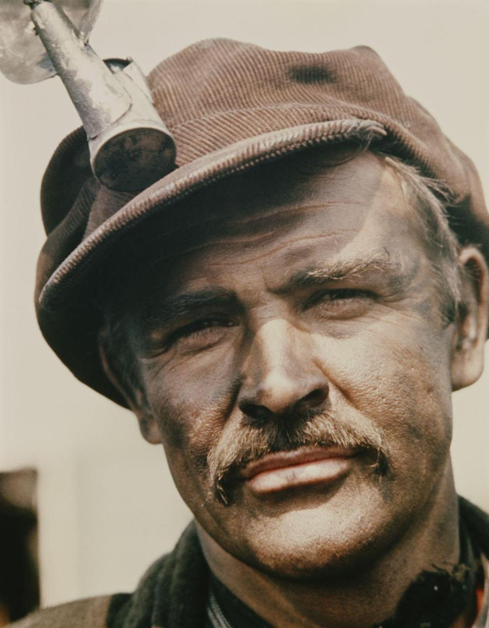 <p>Connery as in Irish miner in the film The Molly Maguires, 1970. </p>