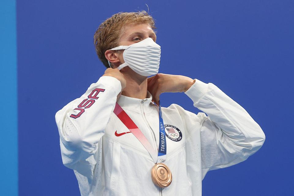 """<p>Biography: 21-year-old from Connecticut competing in his first Olympics</p> <p>Event: Men's 400m freestyle (swimming)</p> <p>Quote: """"I sprinted my butt off the last 50 like it was a 50 free. It was a really fun race.""""</p>"""