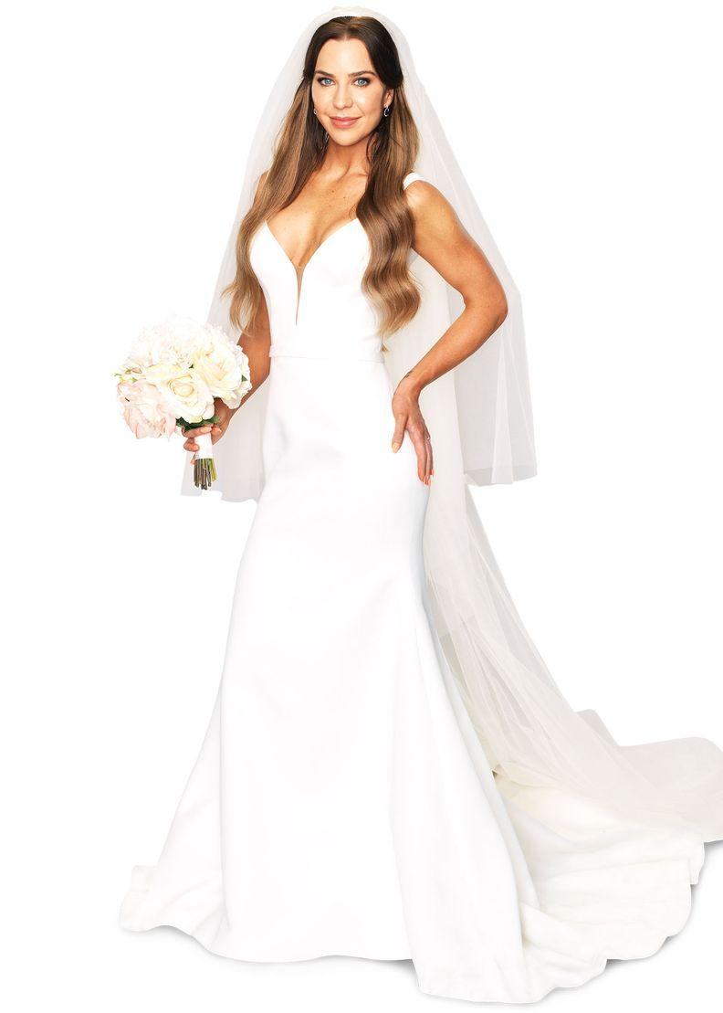 Married At First Sight 2021 bride Coco Stedman wearing a white wedding dress