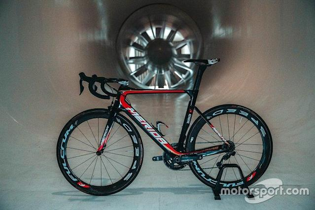 "Team Bahrain Merida cycle in the McLaren windtunnel <span class=""copyright"">Motorsport.com</span>"