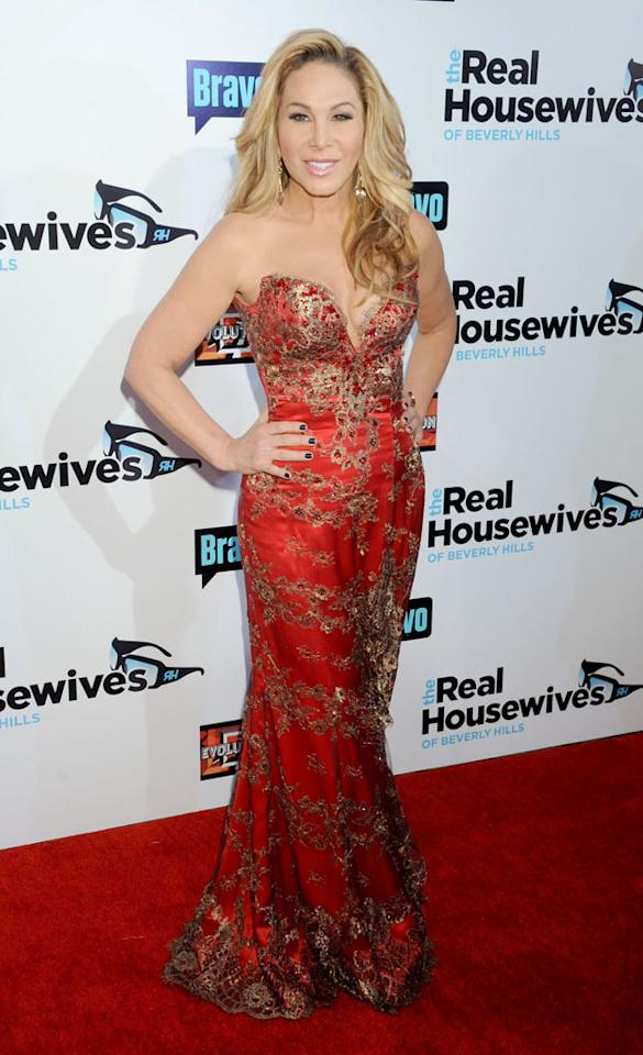 "Adrienne Maloof arrives at ""The Real Housewives Of Beverly Hills"" Season 3 premiere party at the Hollywood Roosevelt Hotel on October 21, 2012 in Hollywood, California."