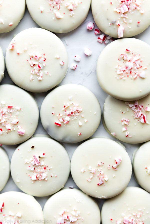 """<p>This blogger notes to use white chocolate baking bars and not white chocolate chips for the coating in her recipe. Although the two products sound similar, there's actually a big difference. </p><p><strong>Get the recipe at <a href=""""https://sallysbakingaddiction.com/peppermint-bark-cookies/"""" rel=""""nofollow noopener"""" target=""""_blank"""" data-ylk=""""slk:Sally's Baking Addiction"""" class=""""link rapid-noclick-resp"""">Sally's Baking Addiction</a>.</strong></p><p><strong><a class=""""link rapid-noclick-resp"""" href=""""https://www.amazon.com/dp/B0000E2OF1?tag=syn-yahoo-20&ascsubtag=%5Bartid%7C10050.g.647%5Bsrc%7Cyahoo-us"""" rel=""""nofollow noopener"""" target=""""_blank"""" data-ylk=""""slk:SHOP DIPPING TOOLS"""">SHOP DIPPING TOOLS</a><br></strong></p>"""