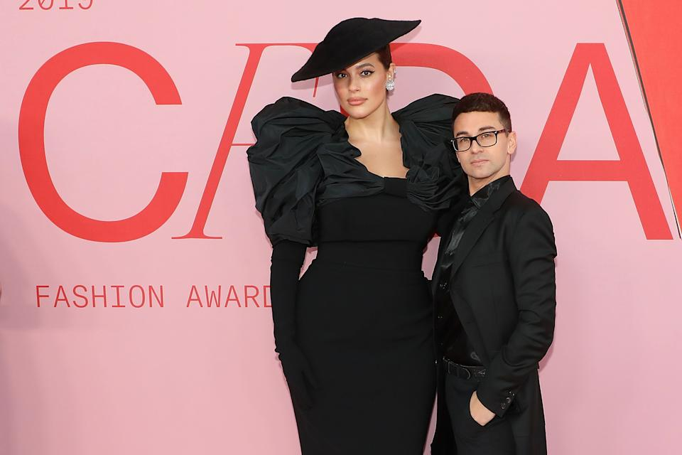 NEW YORK, NY - JUNE 03:  Ashley Graham and Christian Siriano attend the 2019 CFDA Awards at The Brooklyn Museum on June 3, 2019 in New York City.  (Photo by Taylor Hill/FilmMagic)