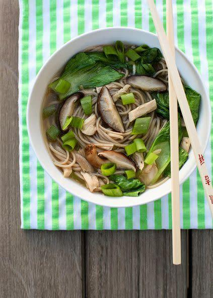 "<strong>Get the <a href=""http://www.annies-eats.com/2012/10/24/mushroom-chicken-and-soba-noodle-soup/"" rel=""nofollow noopener"" target=""_blank"" data-ylk=""slk:Mushroom, Chicken and Soba Noodle Soup recipe from Annie's Eats"" class=""link rapid-noclick-resp"">Mushroom, Chicken and Soba Noodle Soup recipe from Annie's Eats</a></strong>"