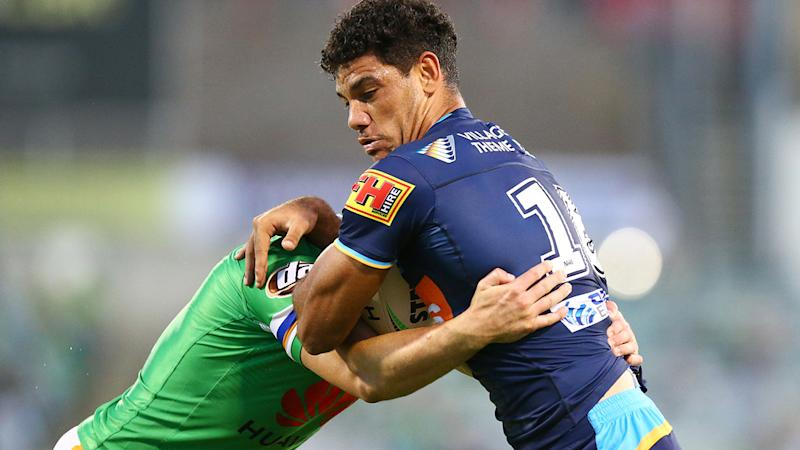 Brian Kelly, pictured here in action for the Gold Coast Titans in March.