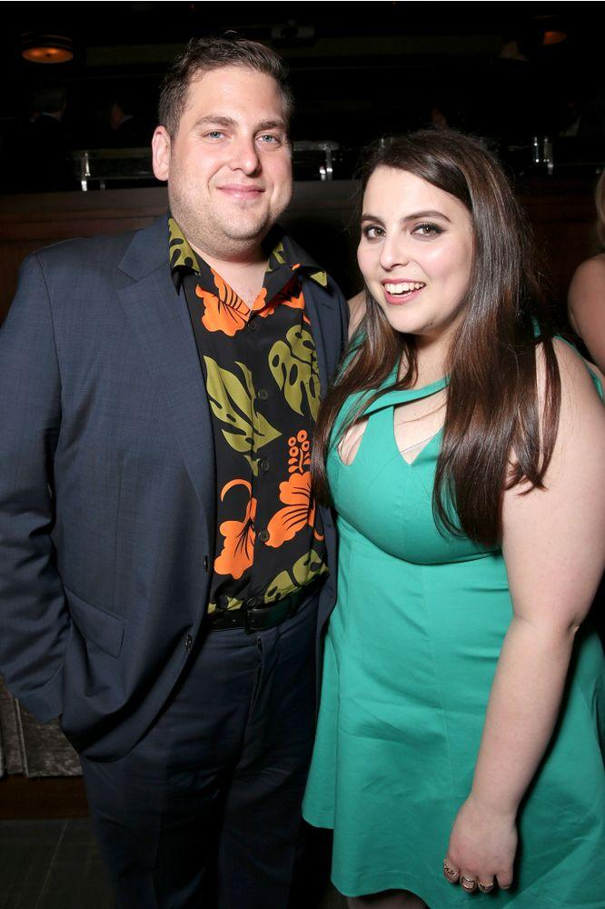 Jonah Hill and Beanie Feldstein | Todd Williamson/Getty Images