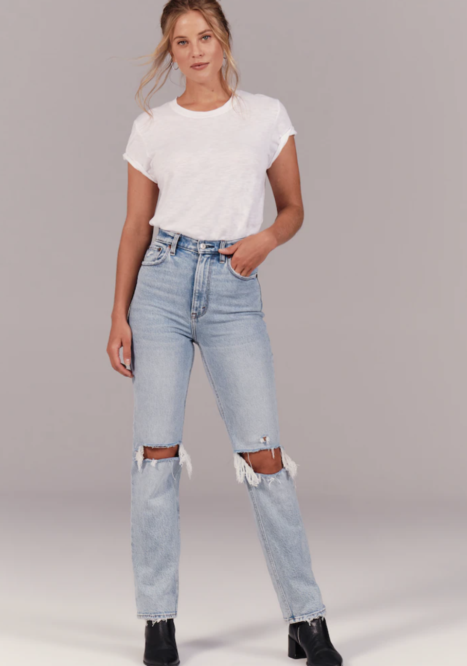 Abercrombie's 90s Ultra Rise Straight Jeans