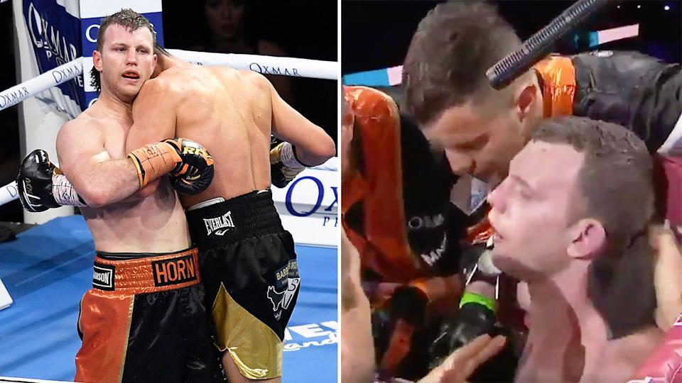 Pictured here, Jeff Horn was thoroughly outclassed in his defeat to Tim Tszyu.