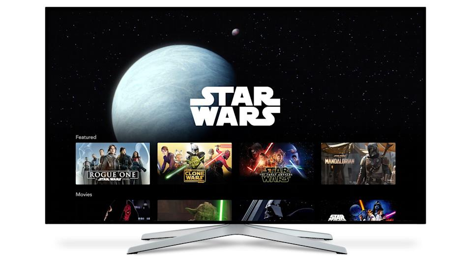 Star Wars on Disney Plus streaming service