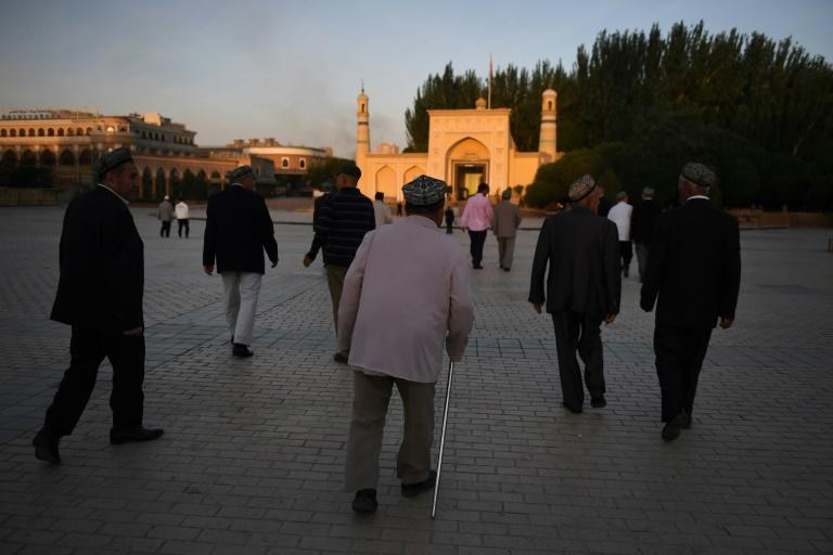 """Beijing describes claims the """"vocational education centres"""" are aimed at steering people away from religious extremism (AFP Photo/Greg Baker)"""