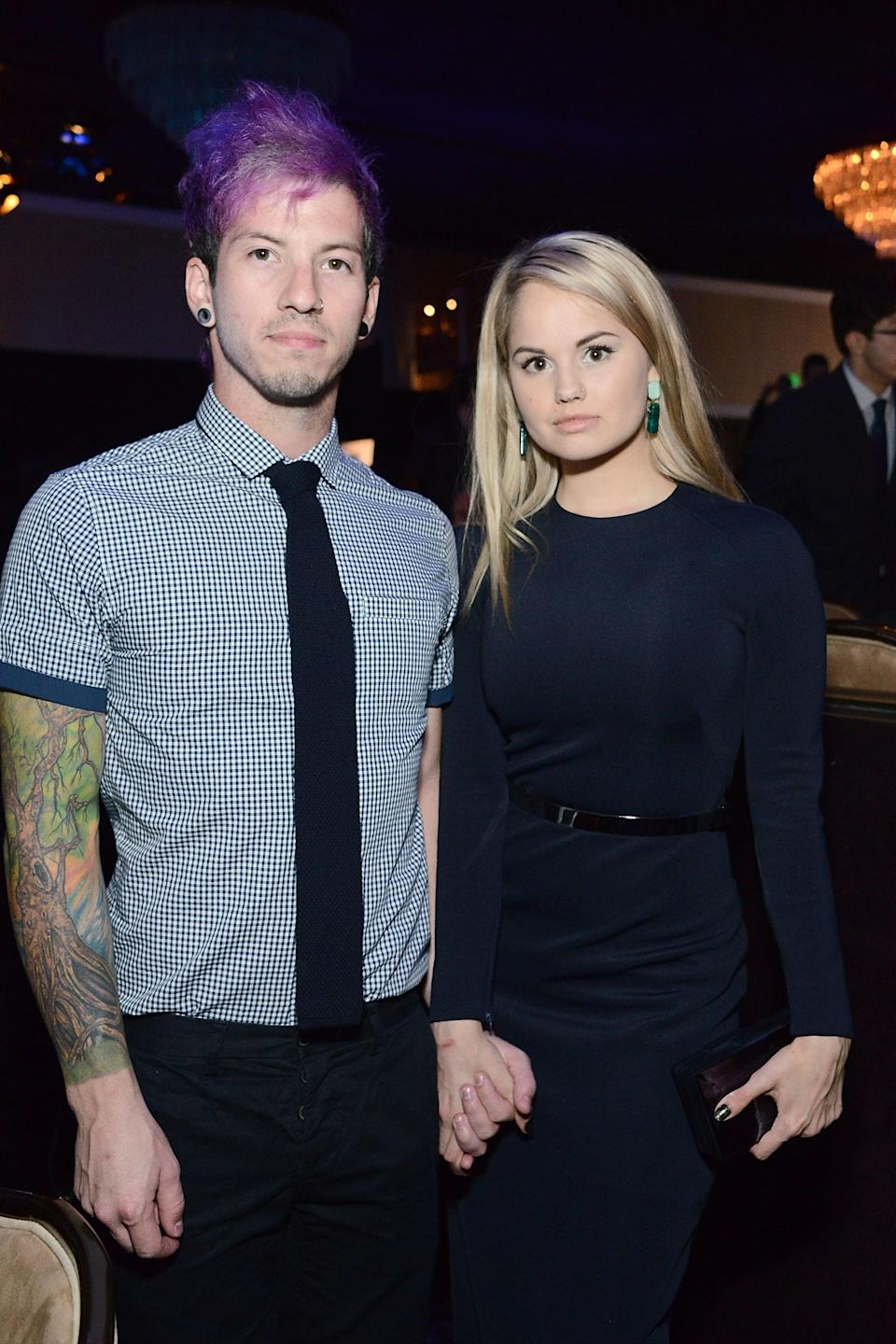 "<p>The former Disney actress <a href=""https://people.com/tv/debby-ryan-engaged-josh-dun/"" class=""link rapid-noclick-resp"" rel=""nofollow noopener"" target=""_blank"" data-ylk=""slk:announced her engagement"">announced her engagement</a> to the Twenty One Pilots musician in December 2018. ""I said yes!"" she shared <a href=""https://twitter.com/DebbyRyan/status/1076678172790280194"" class=""link rapid-noclick-resp"" rel=""nofollow noopener"" target=""_blank"" data-ylk=""slk:in a tweet"">in a tweet</a>. ""Well technically I said 'NO WAY' twice but I meant yes."" Josh also <a href=""https://www.instagram.com/p/Brtp0rWhxAZ/"" class=""link rapid-noclick-resp"" rel=""nofollow noopener"" target=""_blank"" data-ylk=""slk:posted about the proposal"">posted about the proposal</a> on Instagram, saying, ""I found a tree house in the woods in New Zealand and proposed to my girl. She my dude for life. I love you Debby.""</p>"