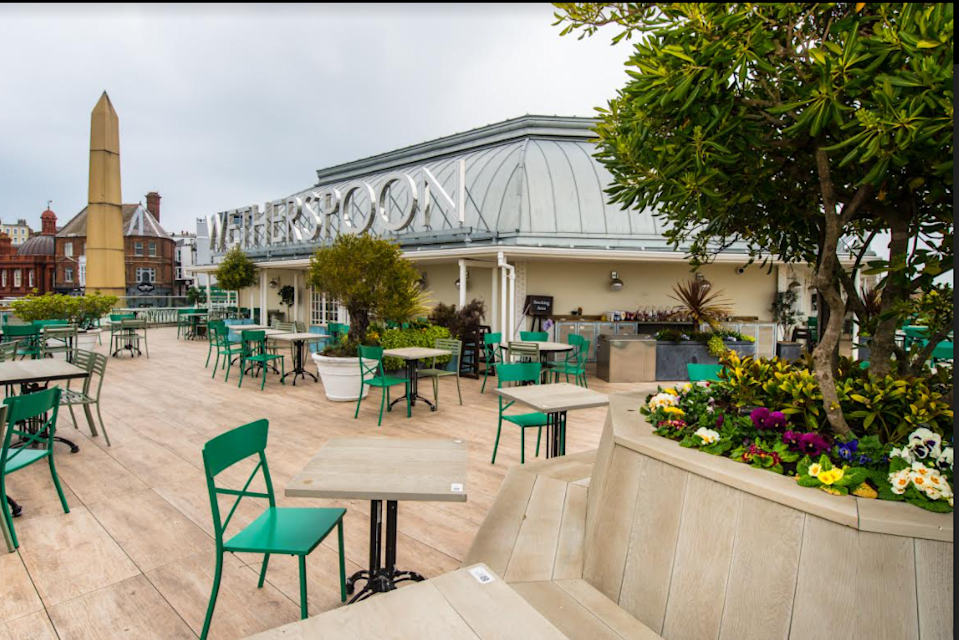 Customers will be able to enter the pub to gain access to the outside area and also to use the toilet, the business said, and 'test and trace' will be in operation. Photo: JD Wetherspoon