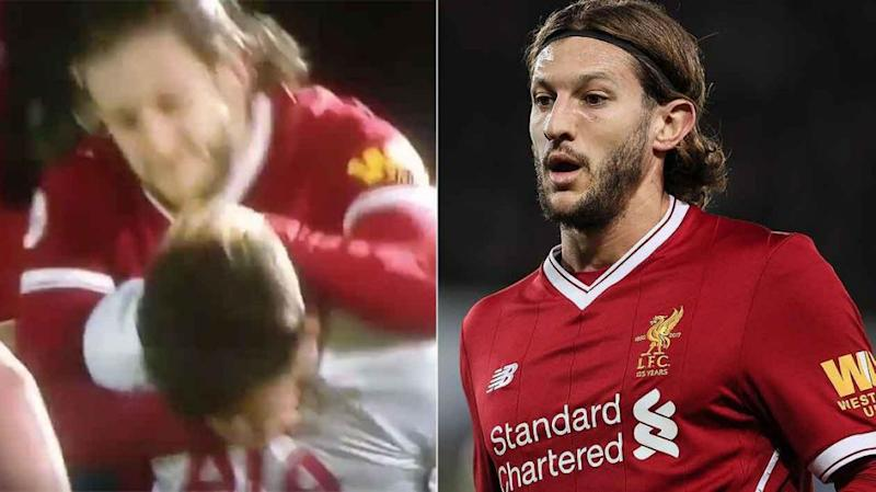 Lallana seemed to snap after the 50-50 challenge. Pic: Getty