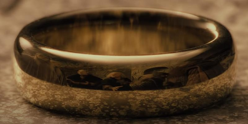 The One Ring up close shot The Lord of the Rings The Fellowship of the Ring New Line Cinema