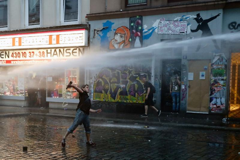 The G20 summit in Hamburg is taking place against a backdrop of violent street protests (AFP Photo/Odd ANDERSEN)