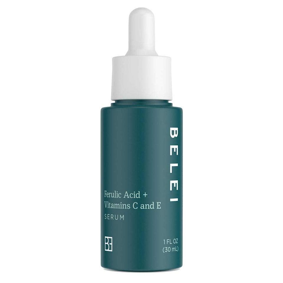 """<h3><h2>Ferulic Acid + Vitamins C and E Serum</h2></h3><br>""""This serum is awesome for skin-care beginners because it has brightening and hydrating ingredients that make it a great two-in-one product. I used it during the evening not expecting much the next morning, but I definitely felt like my skin looked plumper and a bit brighter when I woke up. I wouldn't say this is the end-all-be-all serum, but if you're looking for an affordable option that you can get delivered with free Prime shipping, this is for you."""" - Hannah Bullion<br><br><strong>Belei</strong> Ferulic Acid + Vitamins C and E Serum, $, available at <a href=""""https://amzn.to/3q2KEfI"""" rel=""""nofollow noopener"""" target=""""_blank"""" data-ylk=""""slk:Amazon"""" class=""""link rapid-noclick-resp"""">Amazon</a>"""