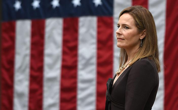 Image: Amy Coney Barrett (Olivier Douliery / AFP - Getty Images)
