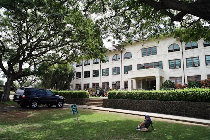 Punahou School in Honolulu, on Mach 9, 2007, will be open full time in the fall of 2020, in the wake of the coronavirus pandemic. (Cory Lum/The New York Times)