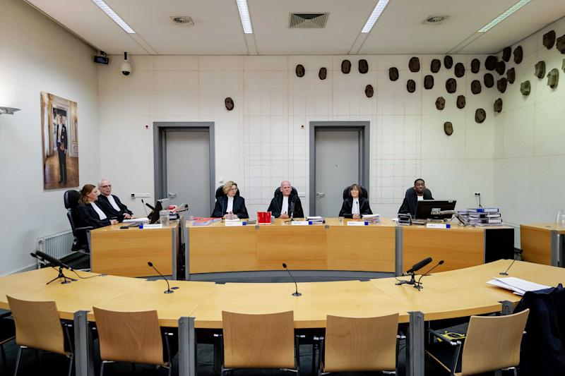 The court before the first pro forma hearing takes place in the criminal case against main suspect Gerrit Jan van D. and the Austrian tenant and handyman Josef B. in the Ruinerwold case, in Assen, The Netherlands, 21 January 2020. The two suspects are, among other things, suspected of improper deprivation of liberty. EPA/ROBIN VAN LONKHUIJSEN