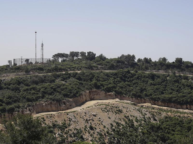The Israeli-Lebanese border seen from the Lebanese side: Getty Images/AFP
