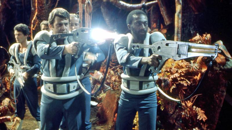 Louis Mahoney in Dr Who: Planet of Evil in 1975