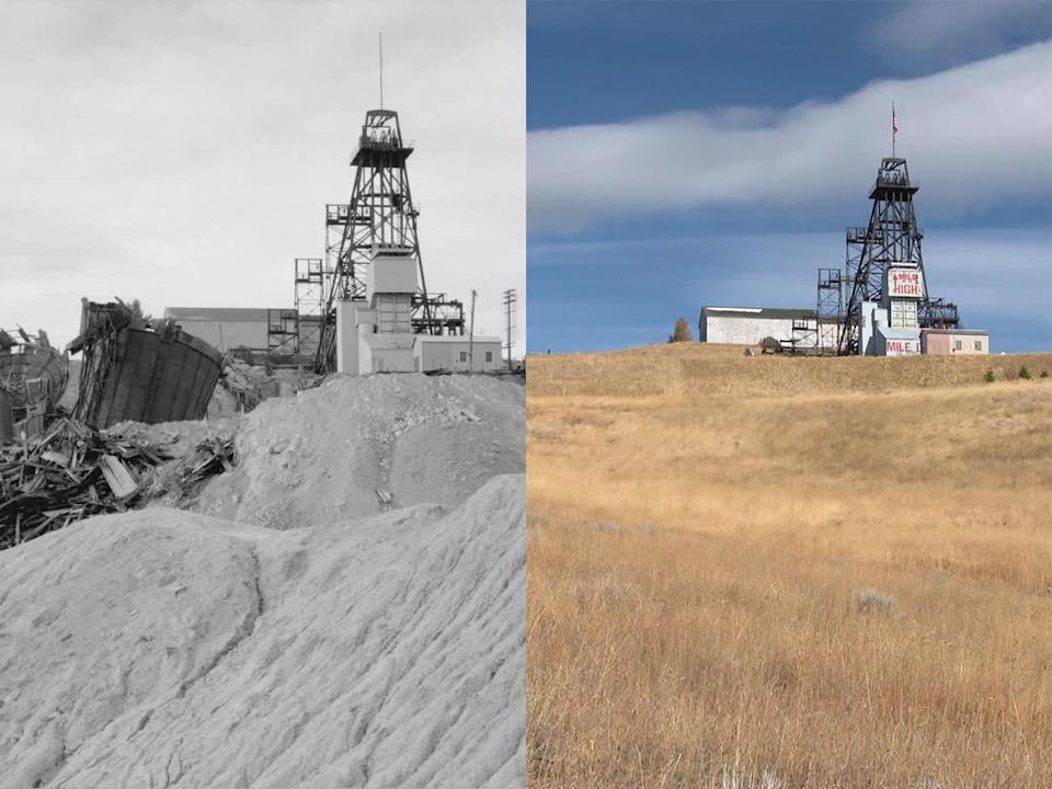 Butte then, and now. / Credit: CBS News