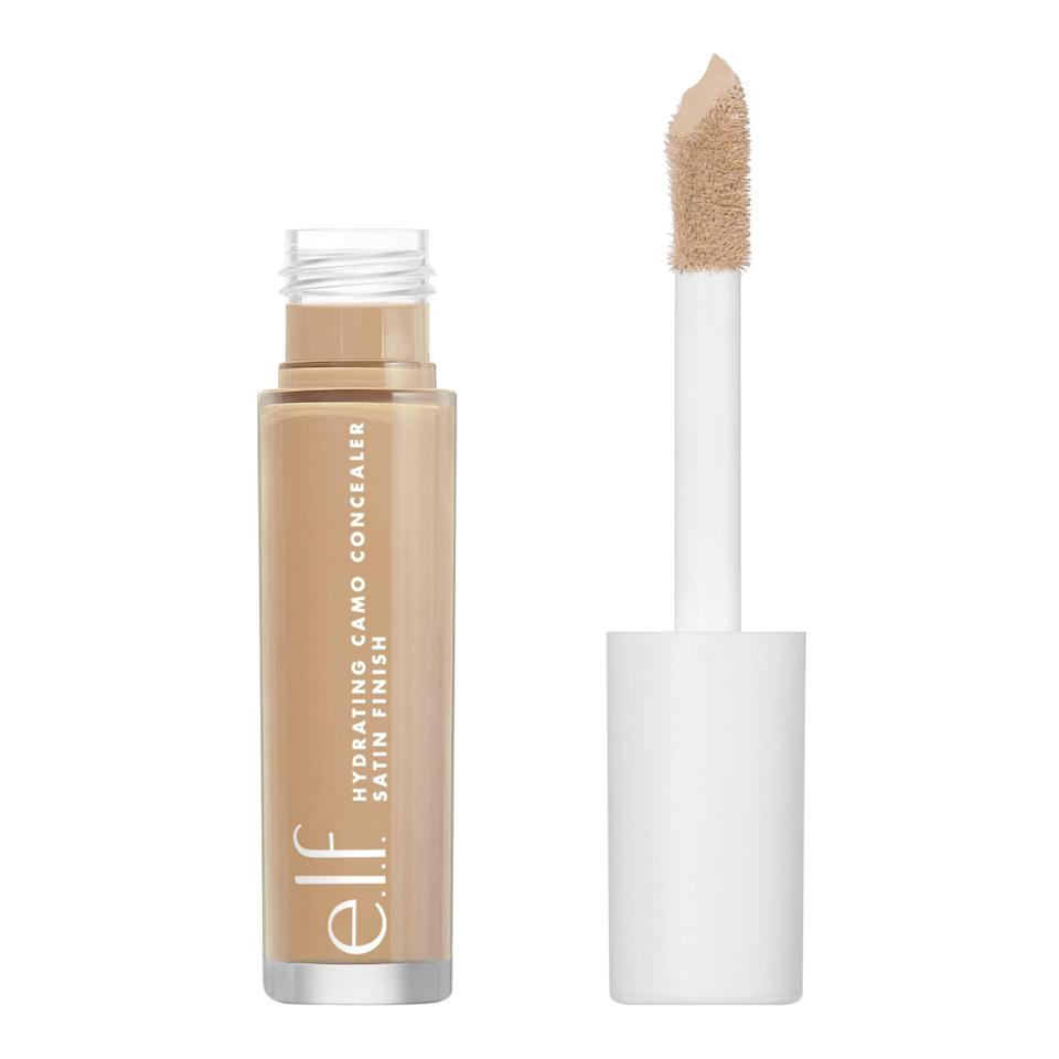 """<p>The <a href=""""https://www.popsugar.com/buy/Elf-Hydrating-Camo-Concealer-588645?p_name=E.l.f.%20Hydrating%20Camo%20Concealer&retailer=target.com&pid=588645&price=6&evar1=bella%3Aus&evar9=30490550&evar98=https%3A%2F%2Fwww.popsugar.com%2Fphoto-gallery%2F30490550%2Fimage%2F47613231%2FConcealer-Elf-Hydrating-Camo-Concealer&list1=hair%2Cmakeup%2Cbeauty%20products%2Cbeauty%20shopping%2Cdrugstore%20beauty%2Cskin%20care&prop13=api&pdata=1"""" class=""""link rapid-noclick-resp"""" rel=""""nofollow noopener"""" target=""""_blank"""" data-ylk=""""slk:E.l.f. Hydrating Camo Concealer"""">E.l.f. Hydrating Camo Concealer</a> ($6) quickly became an editor-favorite after it launched. The full-coverage, hydrating formula disguises breakouts and under-eye circles without looking cakey.</p>"""
