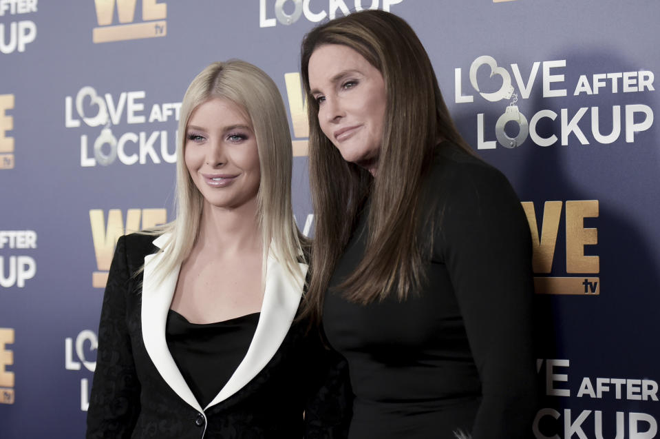 Sophia Hutchins, left, and Caitlyn Jenner attend Real Love: Relationship Reality TV's Past, Present and Future on Tuesday, Dec. 11, 2018, in Beverly Hills, Calif. (Photo by Richard Shotwell/Invision/AP)