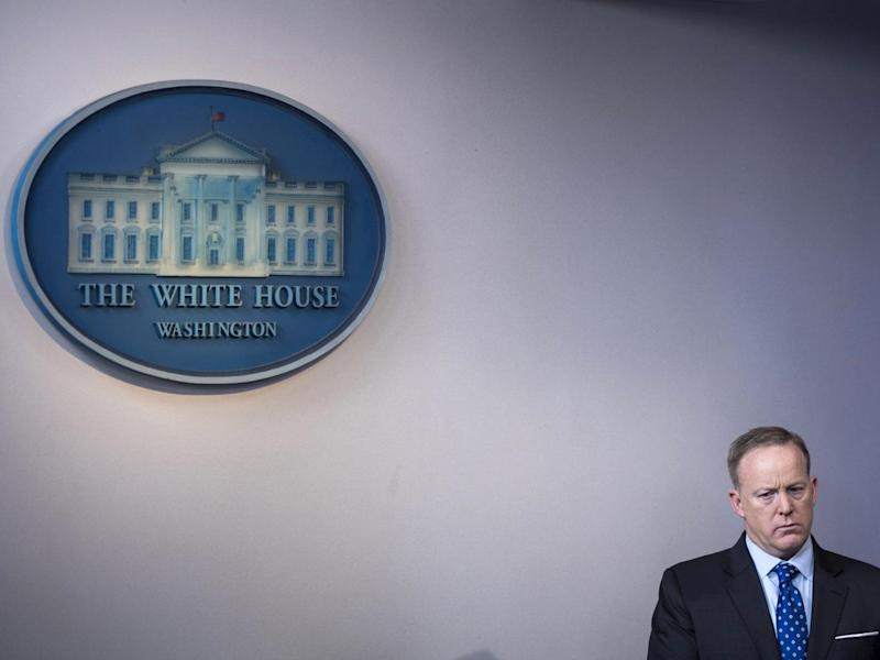 Spicer has refused to say that 'covfefe' was a typo: Jabin Botsford/The Washington Post