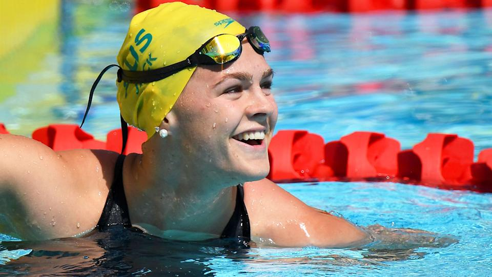 Seen here, Shayna Jack competing in swimming for Australia.