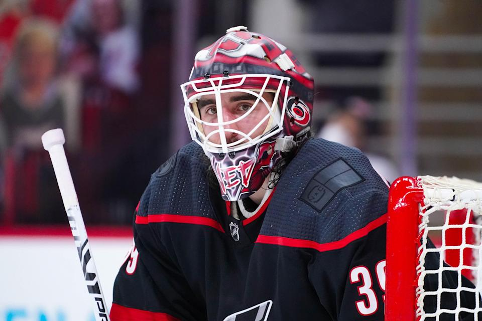 The Carolina Hurricanes traded Calder Trophy finalist Alex Nedeljkovic to the Detroit Red Wings.